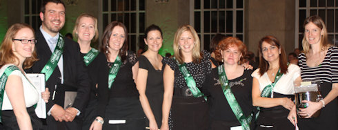 Some of the NSPCC team on the night