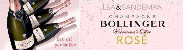 Bollinger Rose - £10 off each bottle