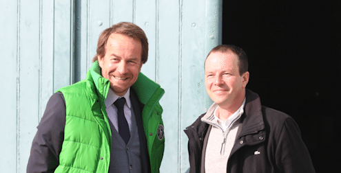 Calon Segur - New Man in Charge Laurent Dufau with winemaker Vincent Millet
