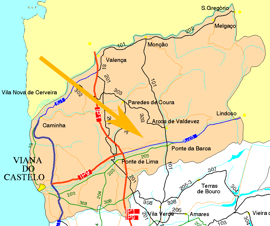 villages of Ponte de Lima and Arcos de Valdevez