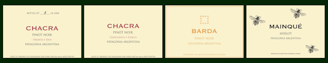 Chacra Wine Labels