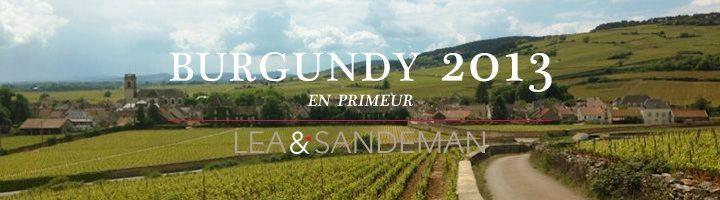 2013 Burgundy En Primeur Campaign