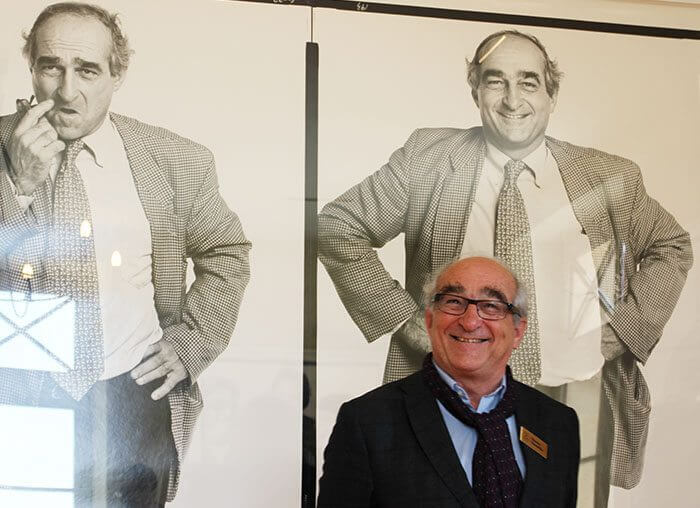 Charles Chevalier, Lafite winemaker, with his double portrait