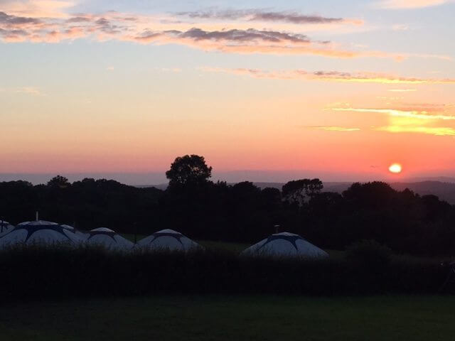 Sunset glasto