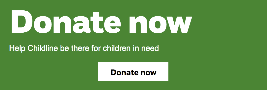 NSPCC donate button