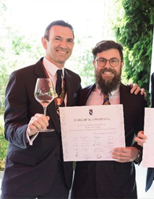 Champagne Academy - Angus Barcroft achieves diploma
