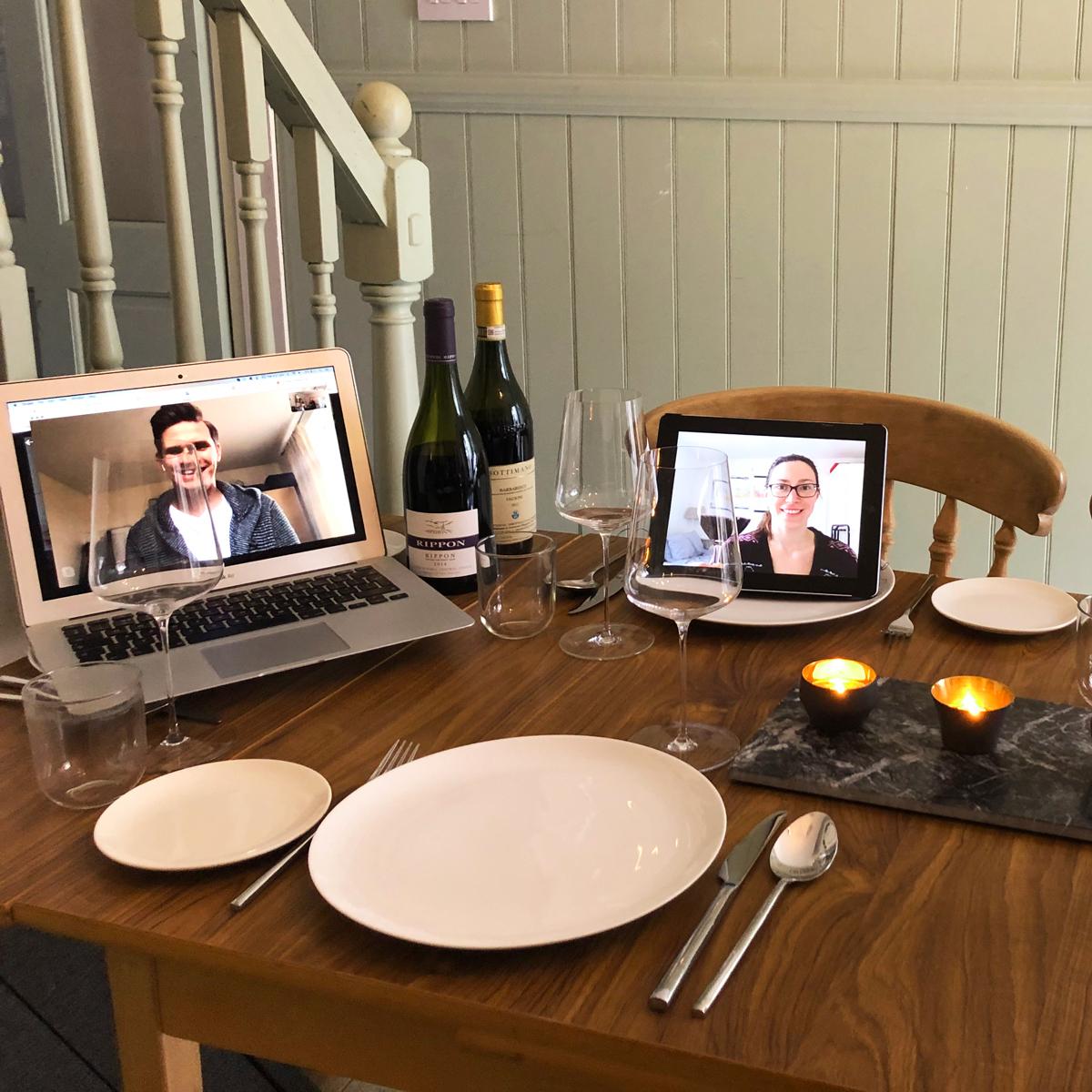 Virtual dinner party