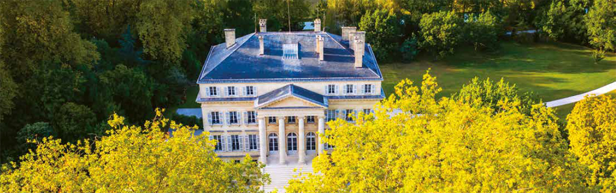 Chateau Margaux aerial view