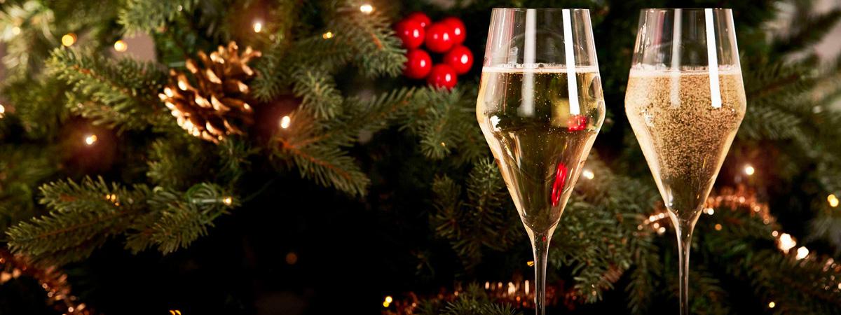 Zalto champane glasses christmas tree