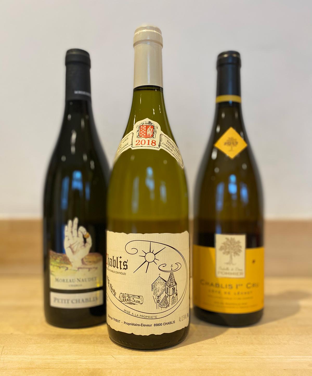 Chablis Wine Line Up