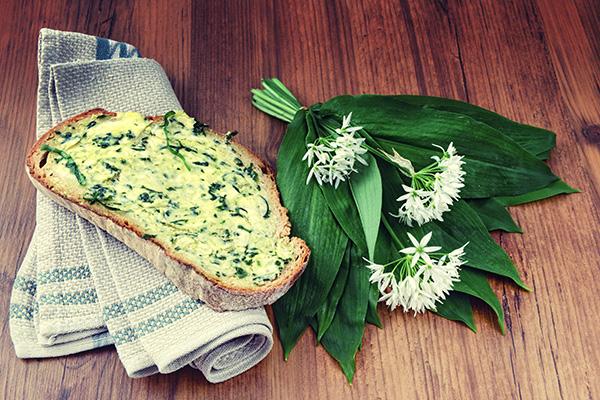 wild garlic on toast