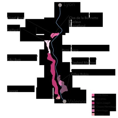 Northern Rhône Map