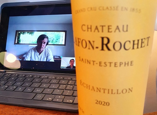 Zoom tasting Chateau Lafon Rochet