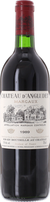 1989 CHÂTEAU D'ANGLUDET Cru Bourgeois Supérieur Margaux, Lea & Sandeman