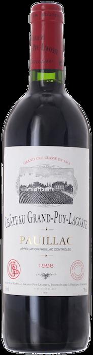 1996 CHÂTEAU GRAND PUY LACOSTE 5ème Cru Classé Pauillac, Lea & Sandeman