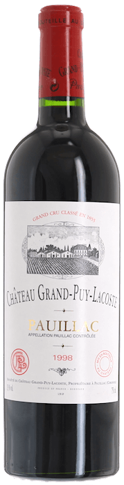 1998 CHÂTEAU GRAND PUY LACOSTE 5ème Cru Classé Pauillac, Lea & Sandeman