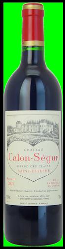 2001-CHÂTEAU-CALON-SÉGUR-3ème-Cru-Classé-Saint-Estèphe