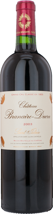 2003 CHÂTEAU BRANAIRE DUCRU 4ème Cru Classé Saint Julien, Lea & Sandeman