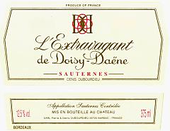 2013-L'EXTRAVAGANT-DE-CHÂTEAU-DOISY-DAËNE-2ème-Cru-Classé-Barsac