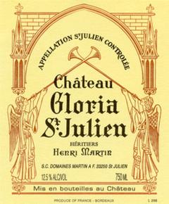 2012 CHÂTEAU GLORIA Cru Bourgeois Saint Julien, Lea & Sandeman