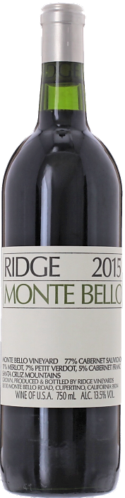 2015 RIDGE Monte Bello Cabernet Ridge Vineyards, Lea & Sandeman