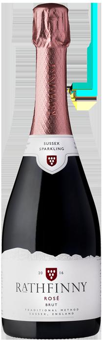 2016 RATHFINNY Sparkling Rosé Brut English Sparkling Wine, Lea & Sandeman