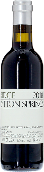 2018 RIDGE Lytton Springs Ridge Vineyards, Lea & Sandeman