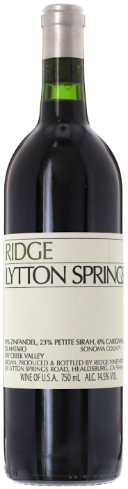 2018 RIDGE Lytton Springs Ridge Vineyards, Lea & Sandeman