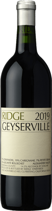 2019 RIDGE Geyserville Ridge Vineyards, Lea & Sandeman