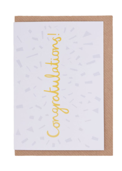 CARDS - CONGRATULATIONS SHATTER, Lea & Sandeman