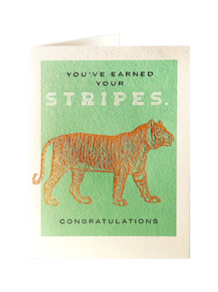CARDS - CONGRATULATIONS TIGER STRIPES Archivist Gallery, Lea & Sandeman