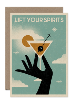 CARDS 'LIFT YOUR SPIRITS' Telegramme Paper Co., Lea & Sandeman
