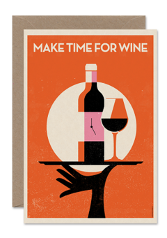 CARDS 'MAKE TIME FOR WINE' Telegramme Paper Co., Lea & Sandeman