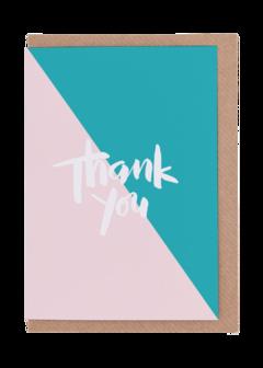 CARDS - THANK YOU NUDE/TURQOUISE, Lea & Sandeman