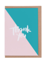 CARDS - THANK YOU NUDE/TURQOUISE, Lea & Sandeman