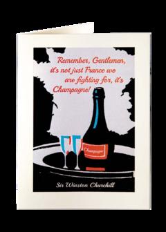 CARDS - WINSTON CHURCHILL ON 'CHAMPAGNE' Archivist Gallery, Lea & Sandeman