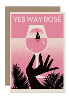 CARDS 'YES WAY ROSÉ' Telegramme Paper Co., Lea & Sandeman