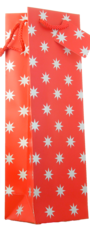 GIFT BAG Red with Silver Stars