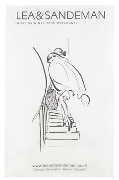 L&S TEA TOWEL Lady on the Stairs, Lea & Sandeman