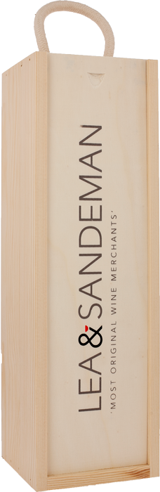 LEA & SANDEMAN WOODEN GIFT BOX Single Bottle With Rope Handle, Lea & Sandeman
