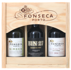 MINIATURES GIFT PACK Fonseca Wooden 3-pack with Sliding Lid, Lea & Sandeman
