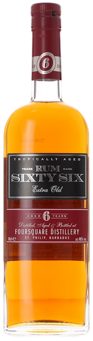 RUM SIXTY SIX 6 Year Old Foursquare, Lea & Sandeman