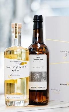SALCOMBE GIN Finisterre Gift Set includes Bodegas Tradición Fino, Lea & Sandeman