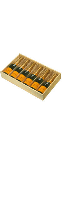 WOODEN GIFT BOX - FLAT Six Bottle, Lea & Sandeman